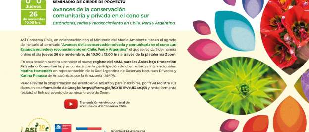 Seminario abordará avances de conservación privada y comunitaria en el cono sur