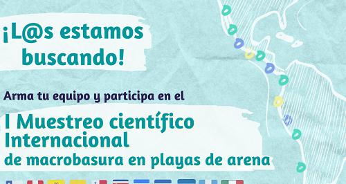 Primer muestreo Internacional de Macrobasura en Playas de Arena